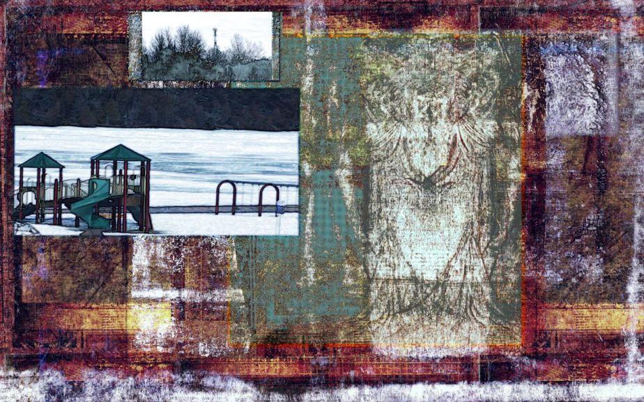 Postcard - Vaudeville Lady - Shoreline of Spring Dreams 2